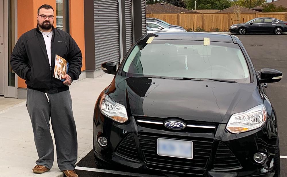 Austin was super happy to get his car loan in Hamilton and pick up his new 2018 Ford!