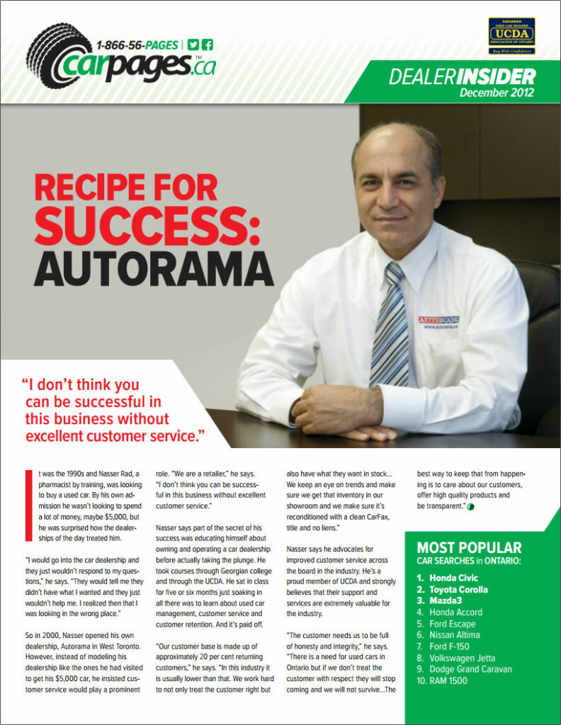 dealer insider magazine recipe for success autorama