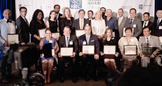 group accepting top 25 canadian immigrant awar