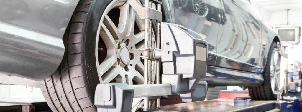 bigstock closeup of tire clamped