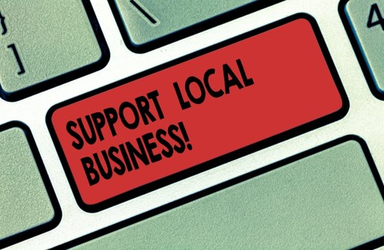 support local business graphic