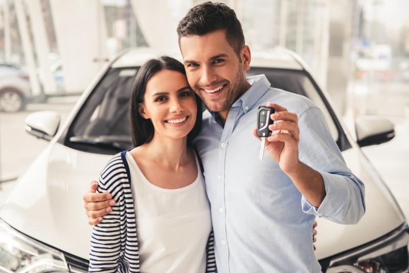 happy couple financing